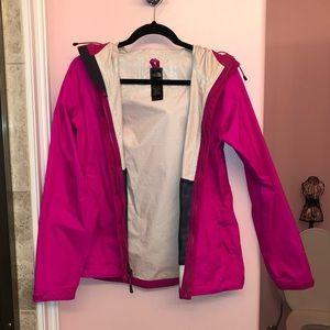 North Face hot pink raincoat!